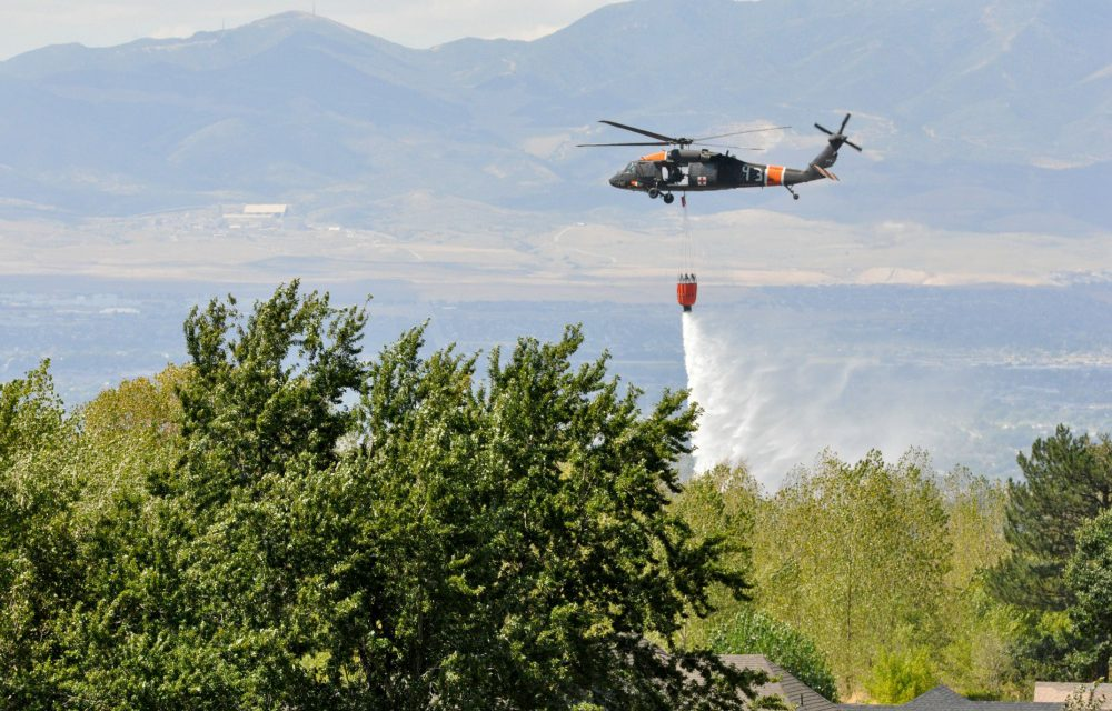 Utah National Guard Responds to Oak Springs Fire