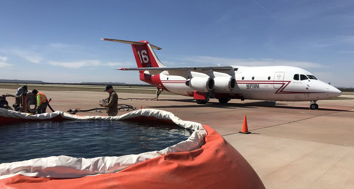 Central Texas Airtanker Base Activated to Help Fight Wildfires Across State