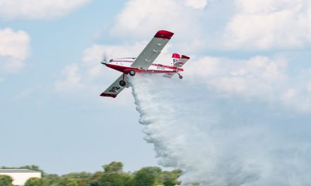 Aerial Firefighting Demo Impresses Crowds During EAA AirVenture.