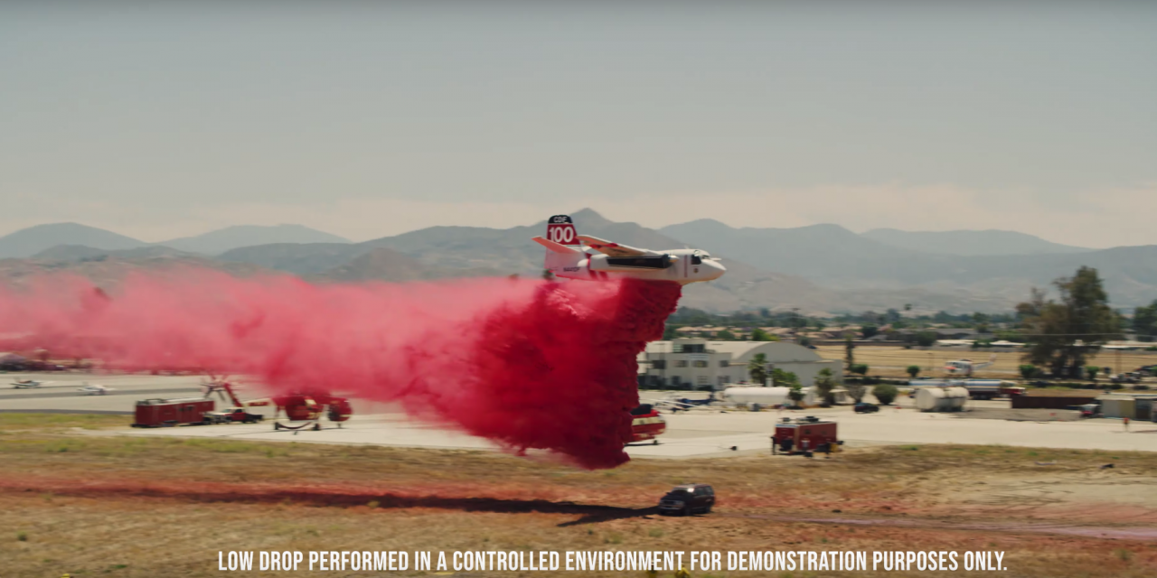 VIDEO: CalFire Destroys Vehicle with Aerial Firefighting Salvo to Illustrate Dangers