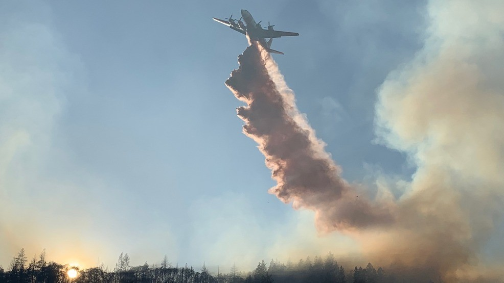Wildland Crews Pummel Gyda Fire