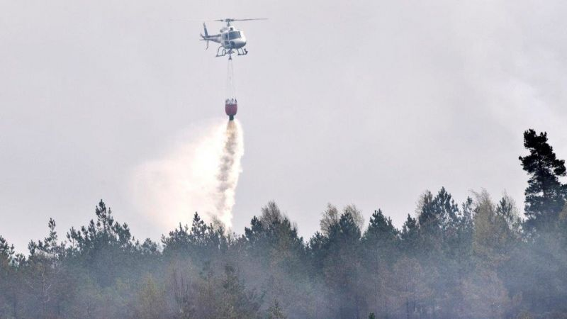 Extinguishing Fires With Helicopters Soon a Possible Measure