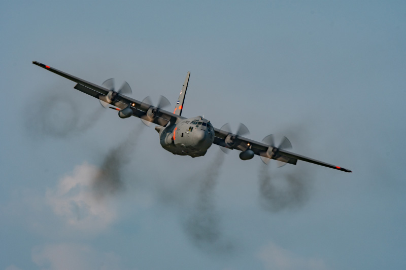 Four MAFFS-equipped C-130 aircraft providing valuable support on wildfires