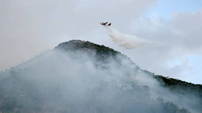 Aerial Fight Against Wildfires in Spain Continue