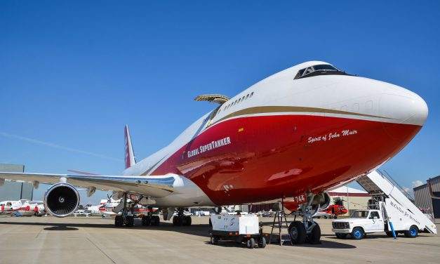 As Kincade Fire Grows, Global SuperTanker Heads to Sacramento