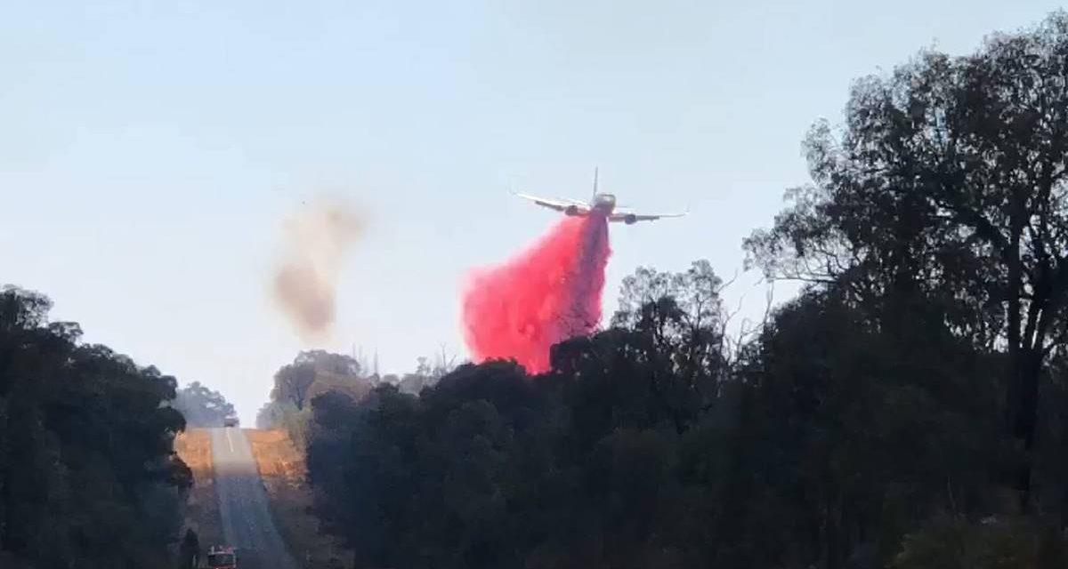 Rural Australian Fire Grows as Aerial Firefighting Effort Continues