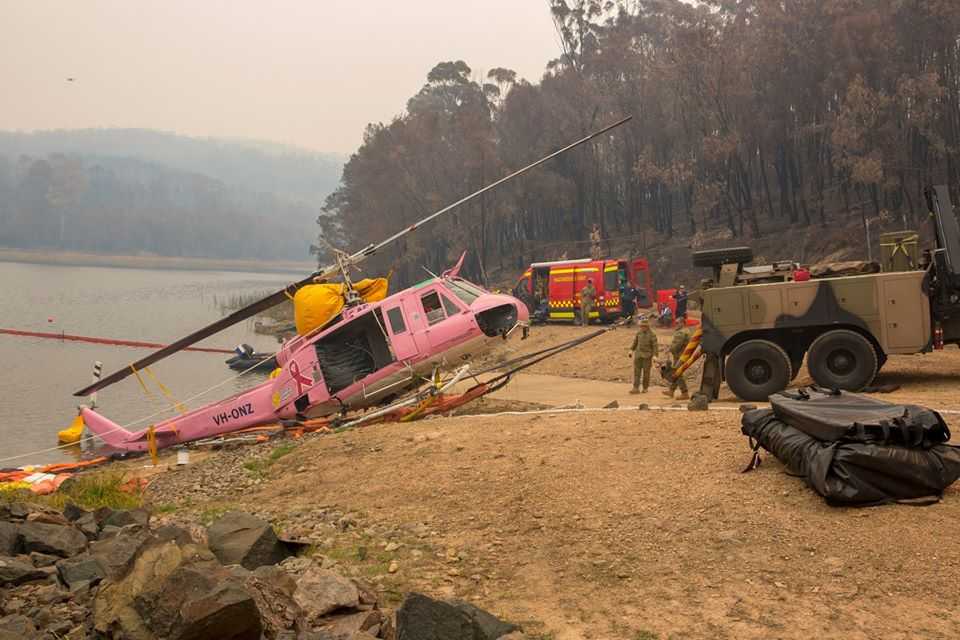 Pilot Safe as Helicopter Fighting Australian Fires Ditches