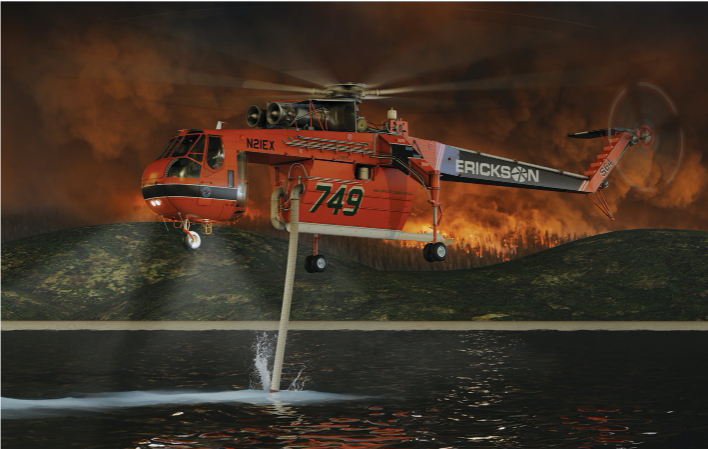 A rendering of the S-64F. Image by Erickson Inc.
