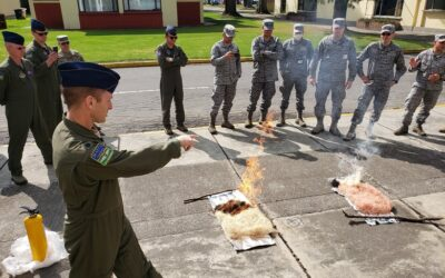Air Force Trains Columbian Military C-130 Crews in Aerial Firefighting