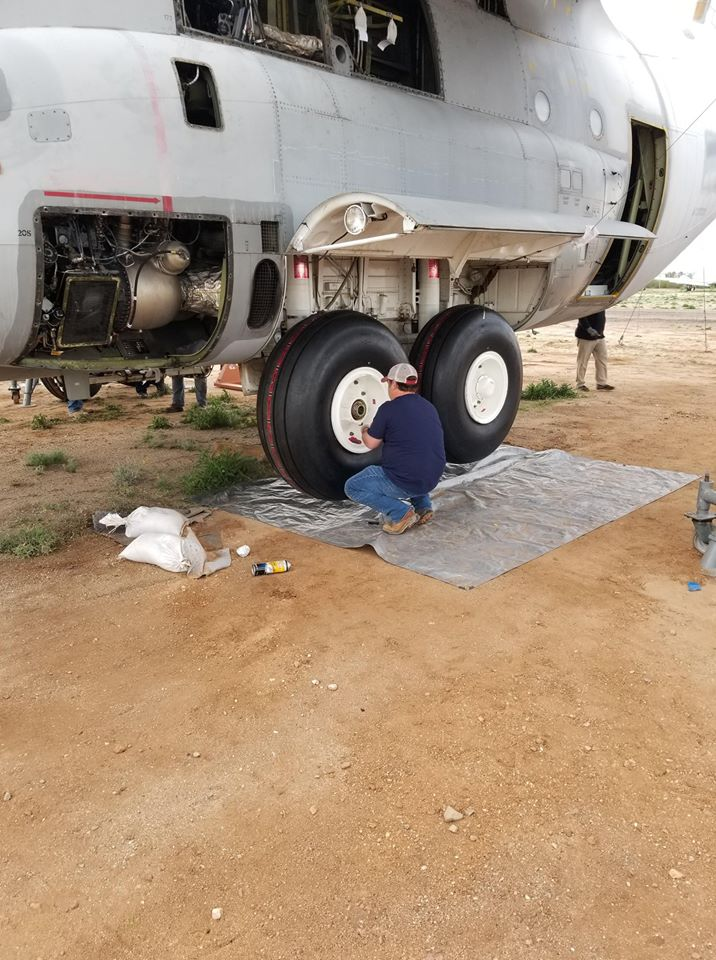 Coulson C-130 wheel replacement