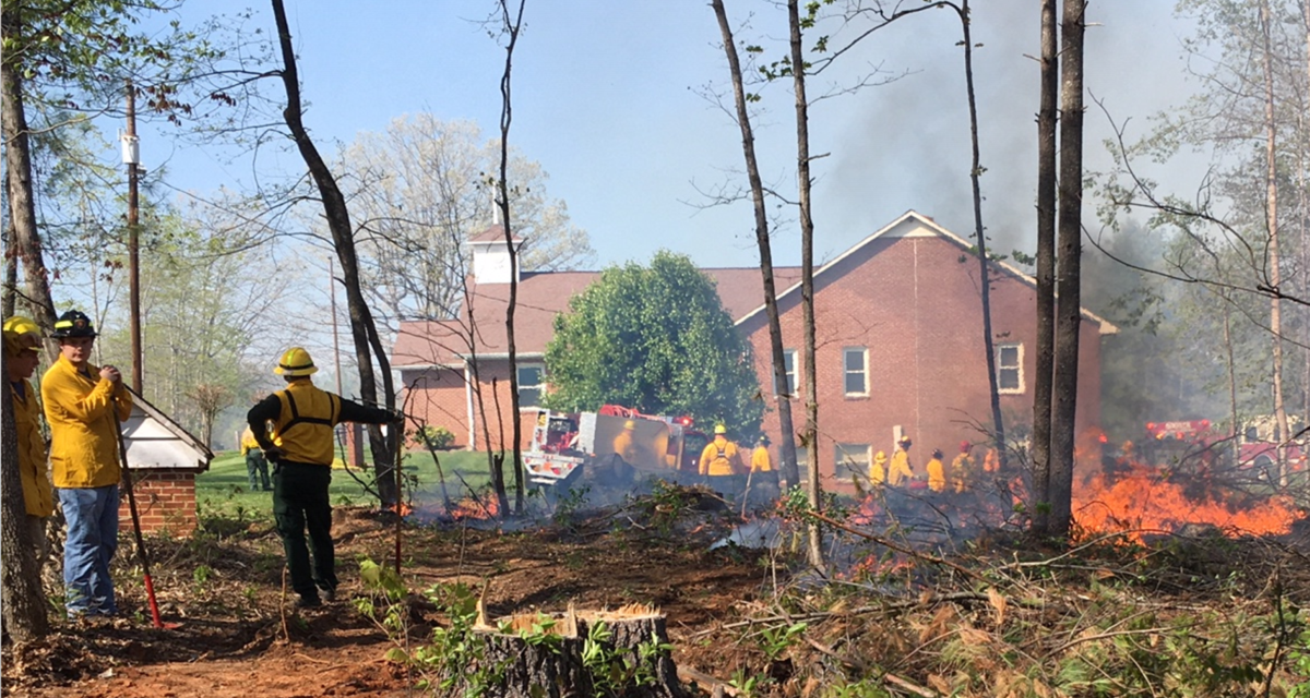 Fire Threatens Boomer Church, Others Fought