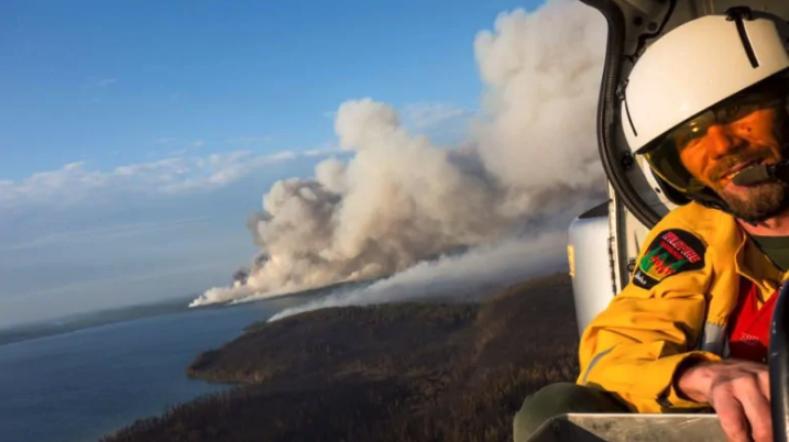 Fighting forest fires with fire: Pyrotechnics and flaming Ping-Pong balls