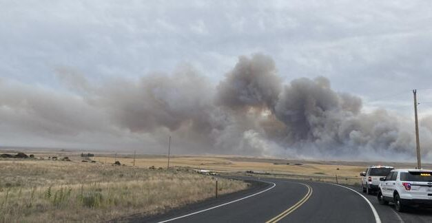 Wildfire burning in Douglas County grows to 10,000 acres, Level 2 evacuations in place