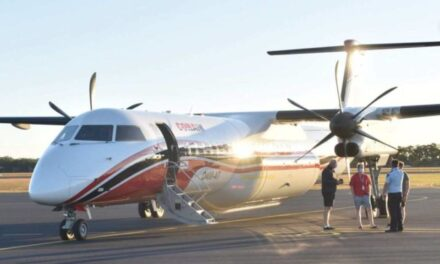 Large Air Tanker arrives at Bundaberg Airport