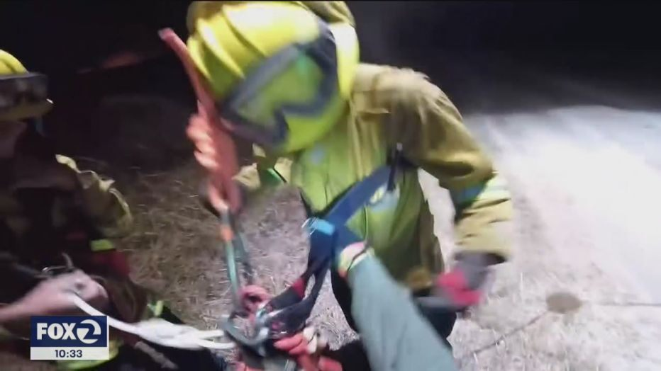 Pilots describe daring aerial rescue of trapped Marin County firefighters