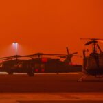 AIR ATTACK HELPS FIREFIGHTERS GAIN FOOTHOLD