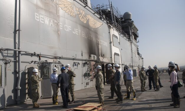 Cleanup on USS Bonhomme Richard Continues as Ship's Fate Remains Unclear