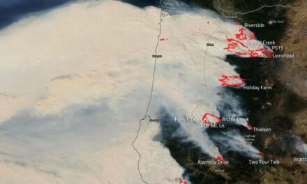 Devastating Wildfires in Oregon Captured by NASA's Aqua Satellite
