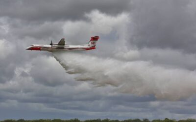 Large Air Tanker deployed to Lowmead fire