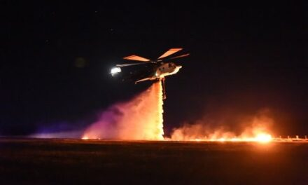 Night-Time Aerial Firefighting Trialed