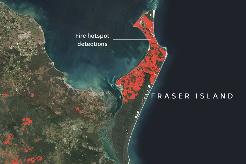 Fraser Island Fire Continues to Burn Despite Aerial Firefighting Efforts