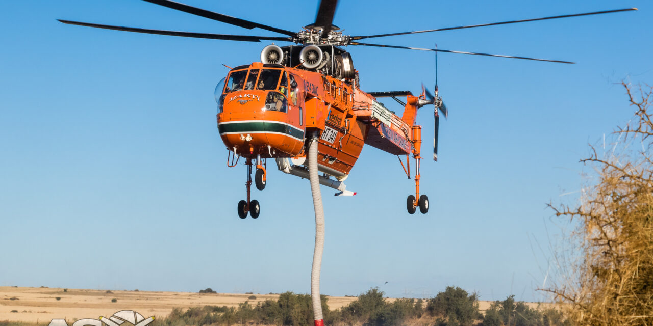 Kestrel/Erickson Air Crane Starts Australian Season Fighting Fire at Mt. Cottrell in Victoria