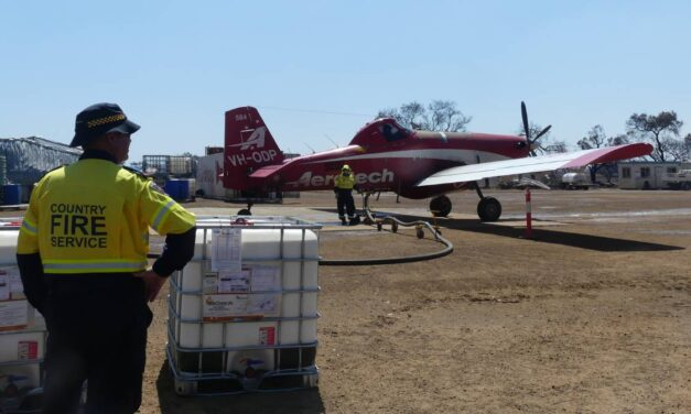 Masons donate water tanks for Turkey Lane fire-bomber airstrip on Kangaroo Island