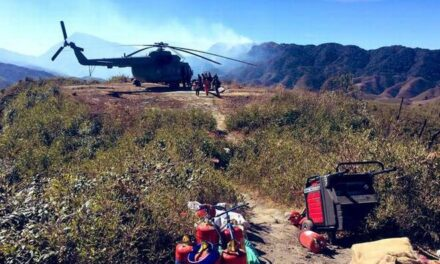 Terrain turbulence affects Dzukou Valley fire fighting