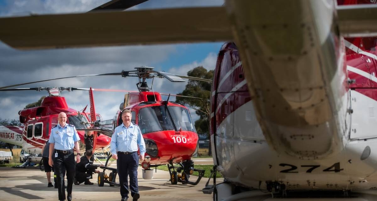 Firefighting helicopters delivered to the ACT