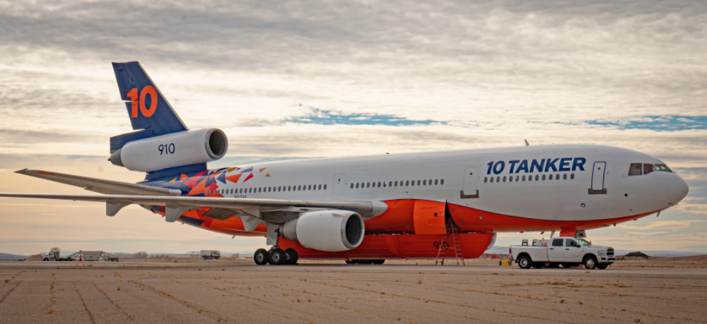 10 Tanker Reveals Stunning New Firefighting DC-10 Livery