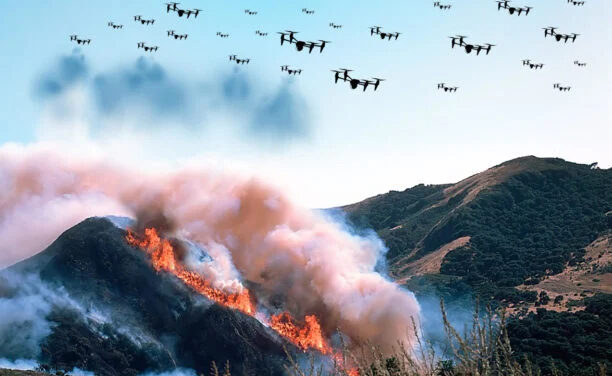 Drone Swarms for Firefighting: the Future of Fire Suppression?