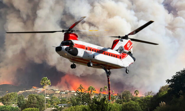 Columbia Helicopters and Aurora Flight Sciences  aim to develop technology for aerial firefighting flights  in degraded visual environments