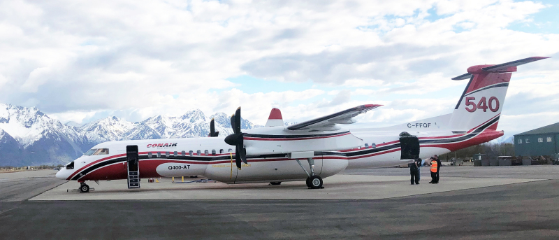 State forestry unveils new Q-400 air tanker to be used for 2021 Alaska wildfire season