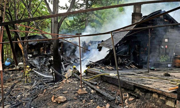 Aerial Firefighters Try in Vain to Save Galice Resort