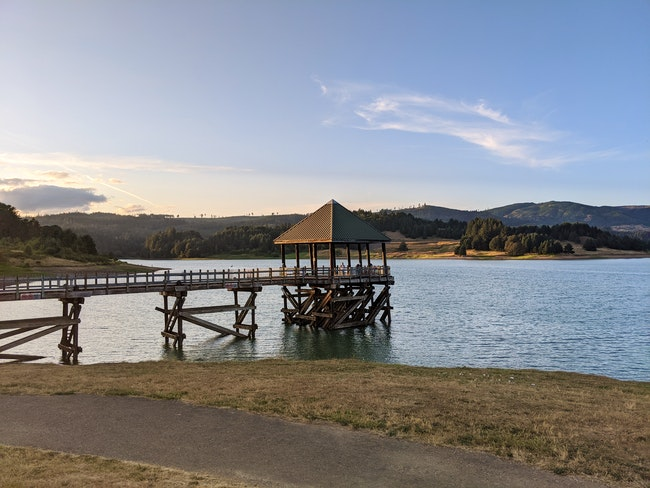 Hagg Lake closed to allow two planes to scoop water to fight Game Hog Creek Fire