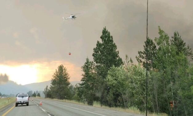 Several wildfires burning in North Idaho after lightning strikes