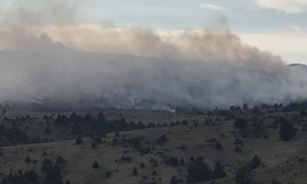 Winds push Dixie Creek blaze away from Prairie City as crews contain fire by 50%