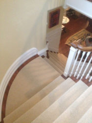 Spiral Stairs Carpet Installation