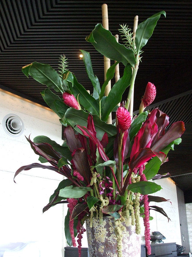 Ginger Flower and Bamboo Floral Arrangement
