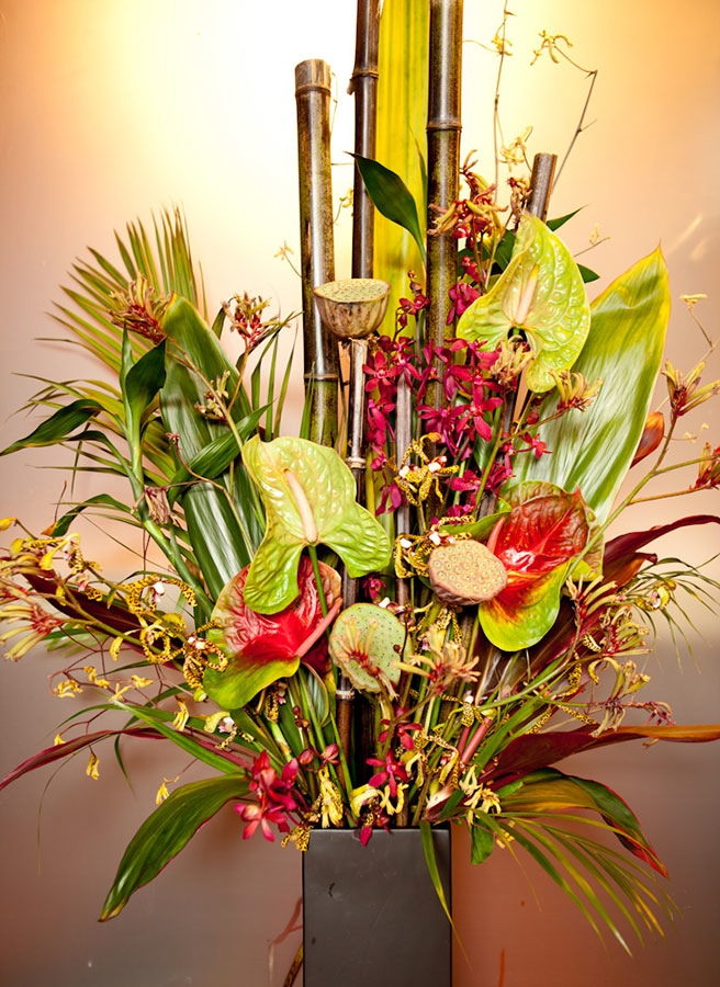 Tropical Floral Office Arrangement