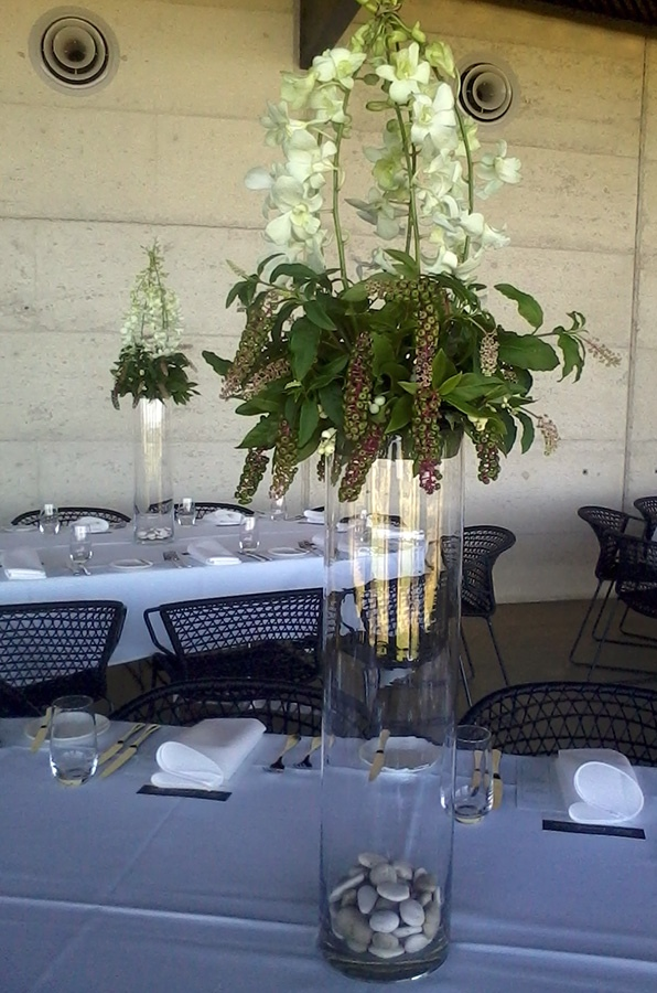 Singapore Orchid Table Settings at Port Phillip Estate