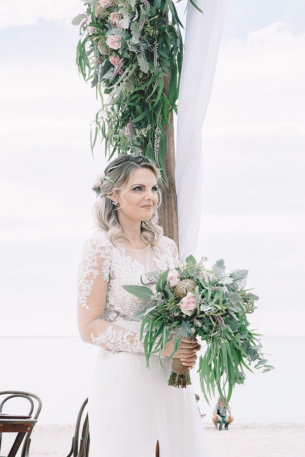 Native Bouquet Beach Wedding