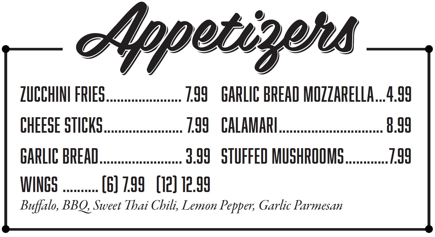 Salis Italian Restaurant Mckinney TX - Appetizers Menu