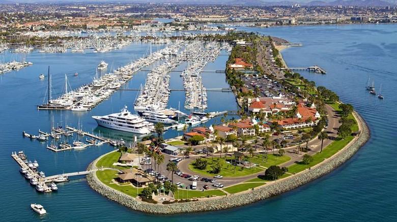 Aerial photo of Kona Kai Resort, San Diego