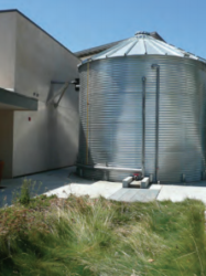 Photo of a rainwater catchment tank