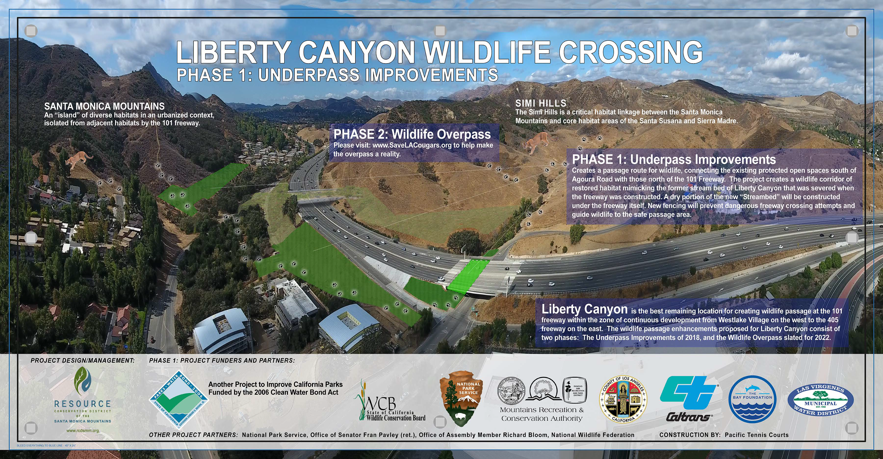 Wildlife Crossing at Liberty Canyon map and infographic