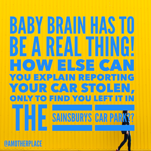 Baby Brain Can be a real thing!
