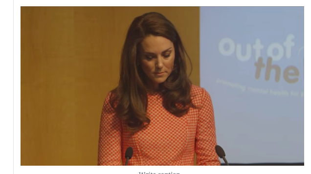 Duchess of Cambridge Maternal Mental Health Out of the Blue