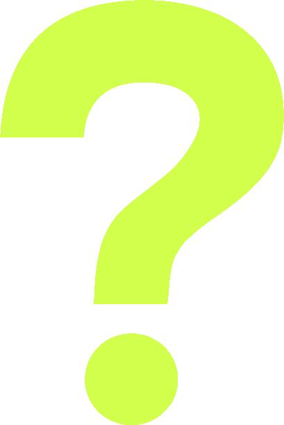 neon question mark