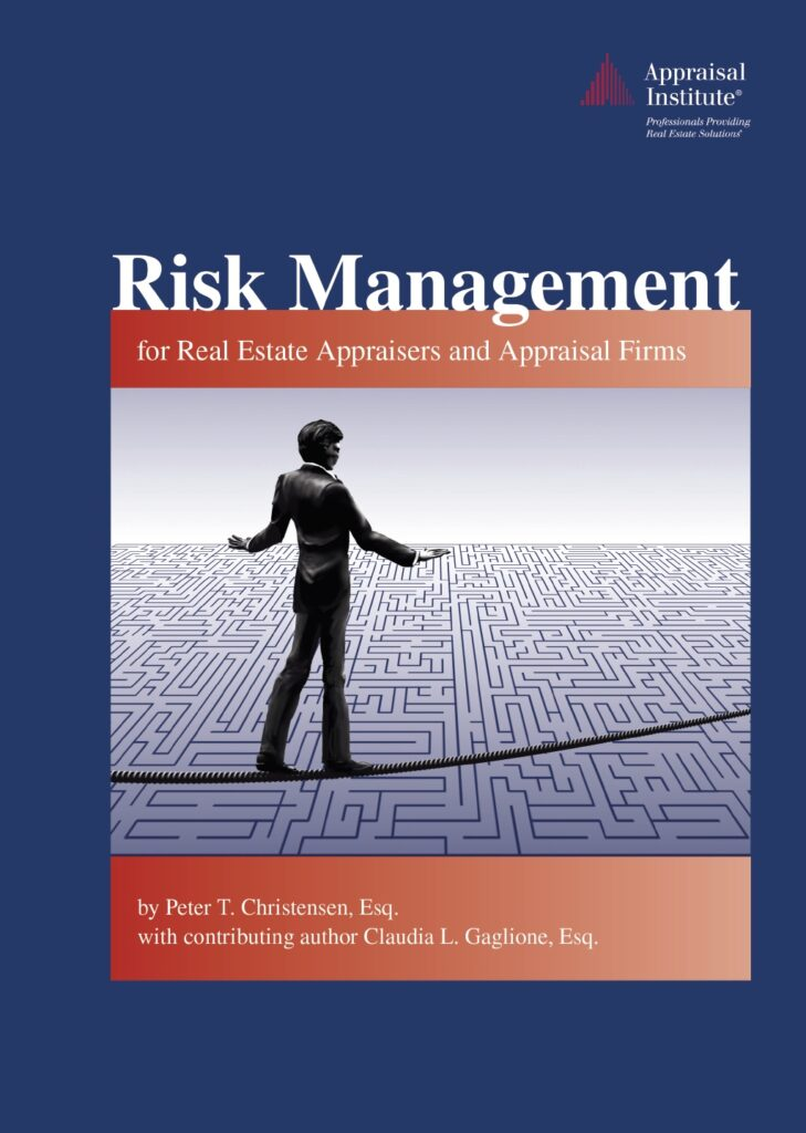 Book cover, Risk Management for Real Estate Appraisers and Appraisal Firms